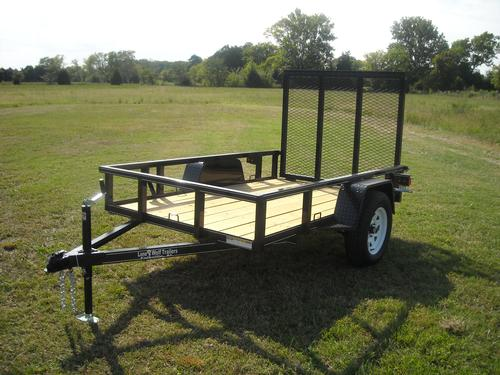 5 x 8 Heavy Duty Tube Rail Utility Trailer