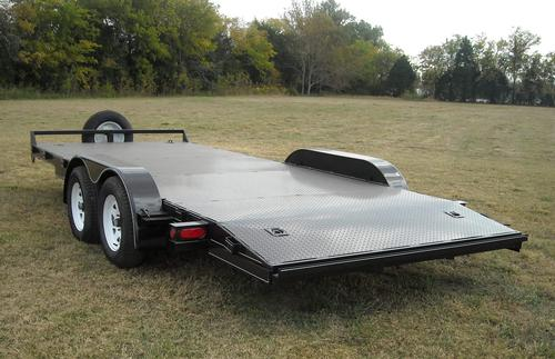18 x 83 Steel Floor Car Hauler with Optional Removeable Fenders