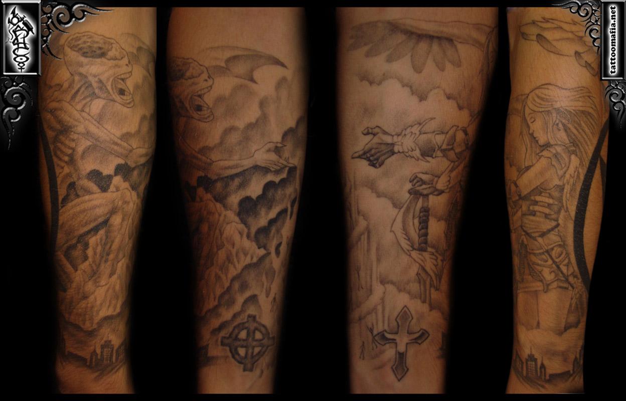 Shaded Tattoo Sleeves